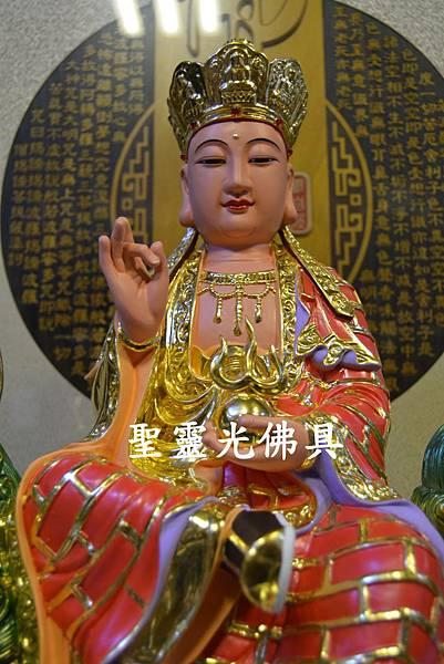 訂製神像 地藏王菩薩乘諦聽 一尺六 樟木 珍珠漆彩繪