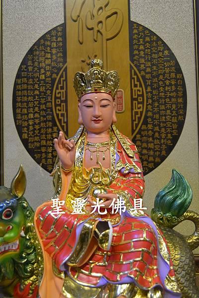 訂製神像 地藏王菩薩乘諦聽 一尺六 樟木 珍珠漆彩繪2