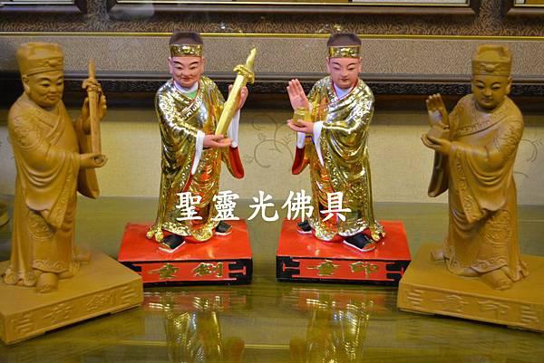 訂製神像 劍印童子 八吋八 樟木 原木本色與按金