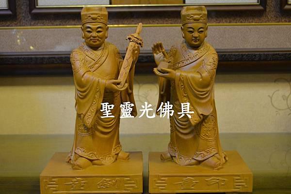 訂製神像 劍印童子 八吋八 樟木 原木本色與按金2