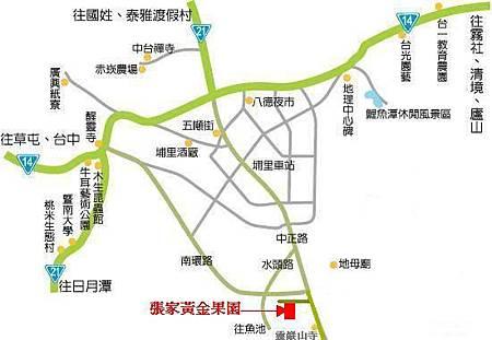 張家黃金果園交通地理位置