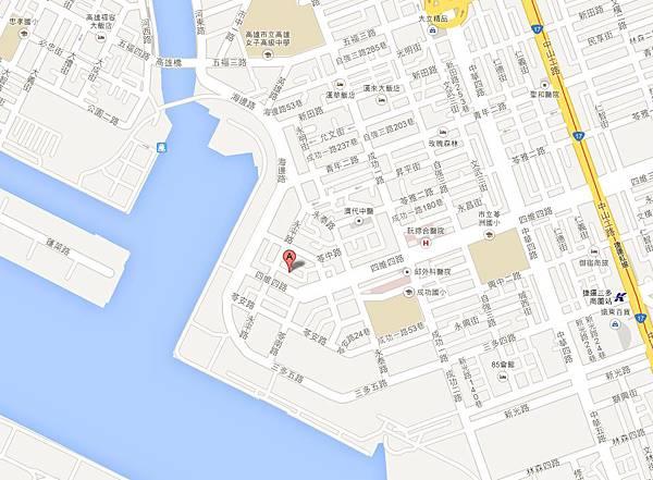 翰神公寓位置圖