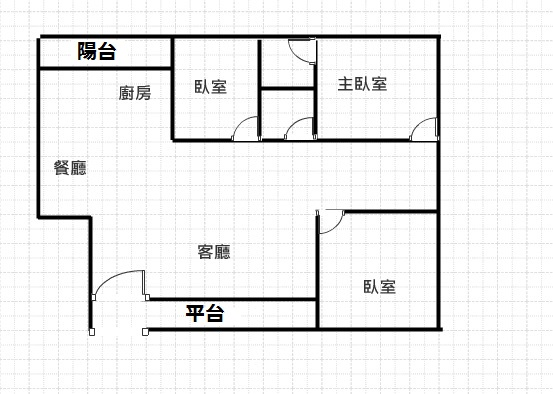 翰神公寓 格局圖