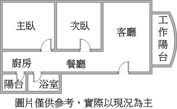 R14捷運巨蛋超大2房衛浴開窗格局圖