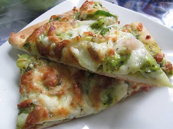 青醬海鮮披薩