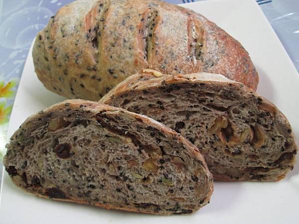 免揉堅果法國麵包