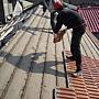 屋瓦漏水 屋頂拆除施工中