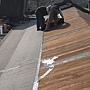 屋瓦漏水 防水毯施工中