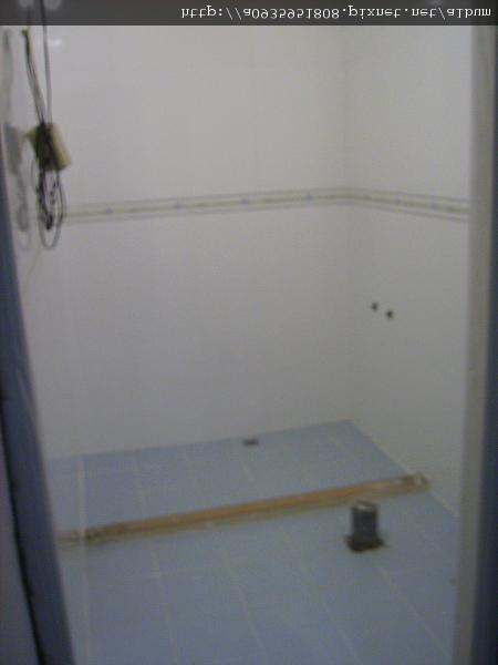 浴室整修一拋光磁磚施工後 乾濕分離施工中