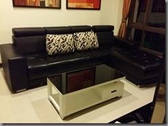 中和二手家具,L型沙發,牛皮沙發,半牛皮沙發