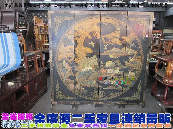 IMG_2097古董實木彩繪屏風$6000-180x3x183
