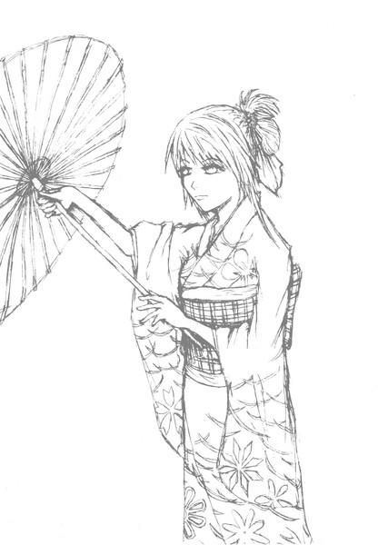 新年賀圖黑白稿