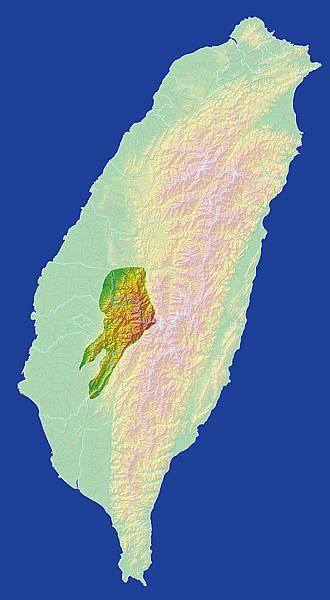 阿里山台灣位置示意圖
