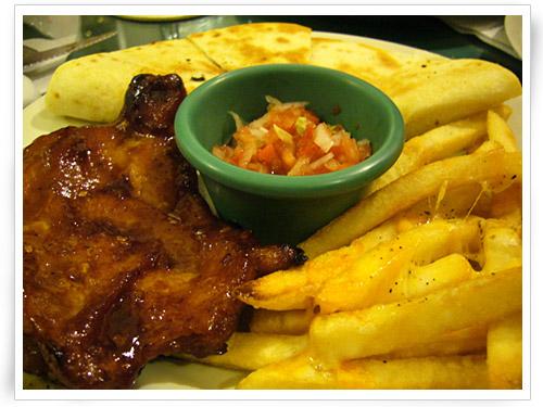 G2:雞肉薄餅、起士薯條、雞腿