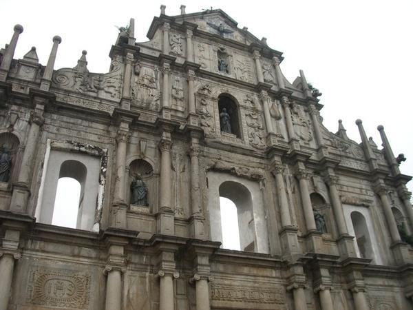 我覺的大三巴超有古老歐洲的建築風味