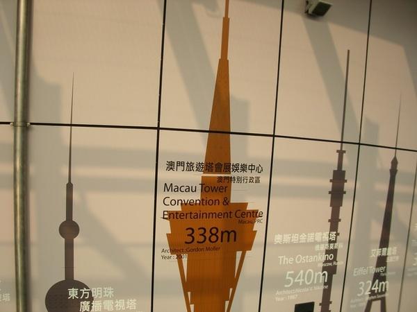 澳門旅遊塔有61樓高