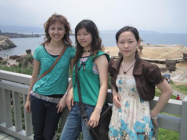 第一次來野柳是高中畢業旅行