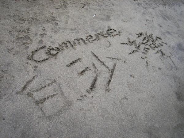 沙灘也是我的畫板^^