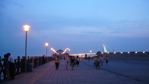傍晚時分的漁人碼頭