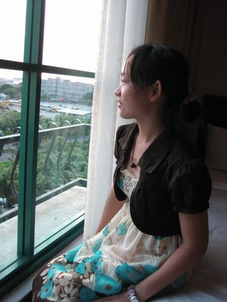 欣賞窗外悅目的景觀