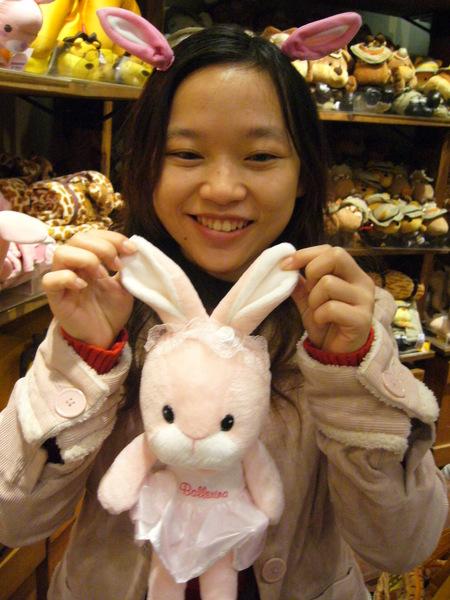 兔耳朵髮夾