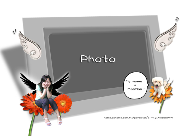 相簿背景圖:白天使與黑魔女