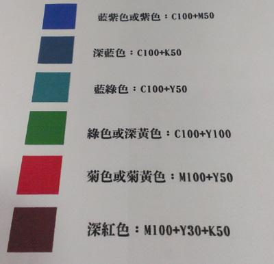 常用印刷色票_數位列印色