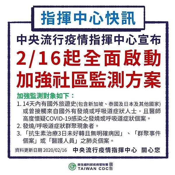 109.02.16指揮中心快訊