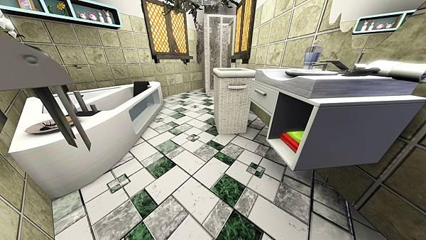 1樓雙人房2(左)的衛浴