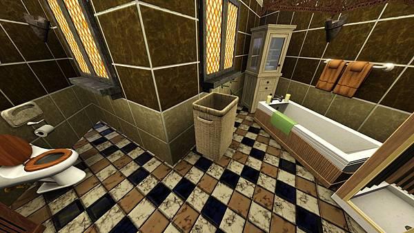1樓雙人房3(右)的衛浴