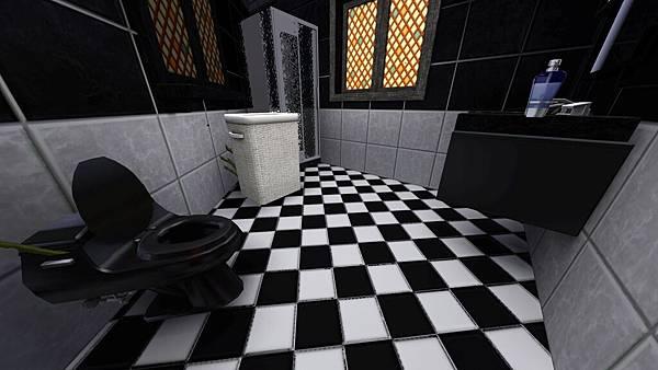 左方單人房的衛浴