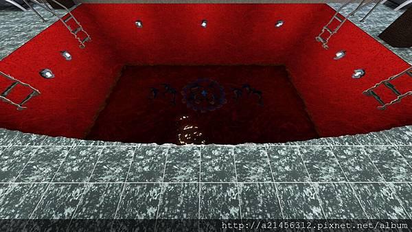 紅色的游泳池