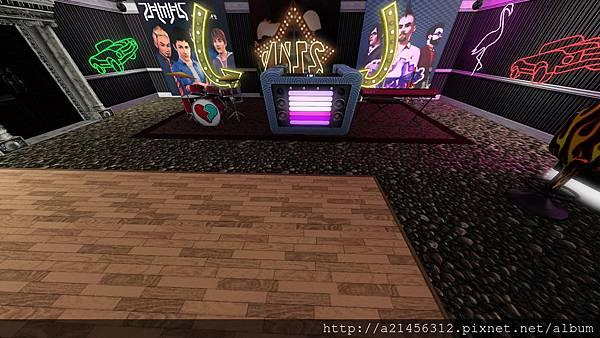 酒吧的DJ和樂團表演區
