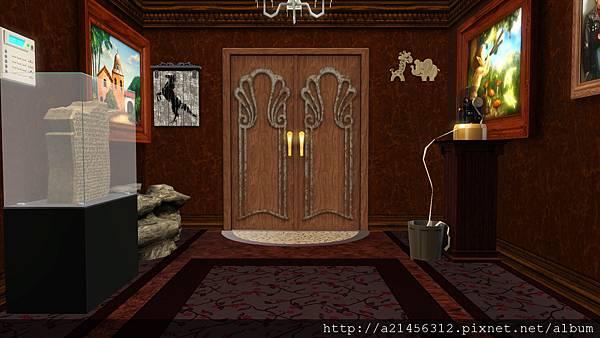 走廊進到餐廳的門