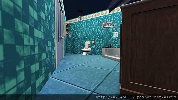 左方的雙人房1的浴室
