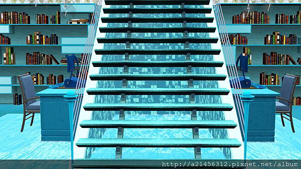 海洋(水)資料庫 通往2F的樓梯