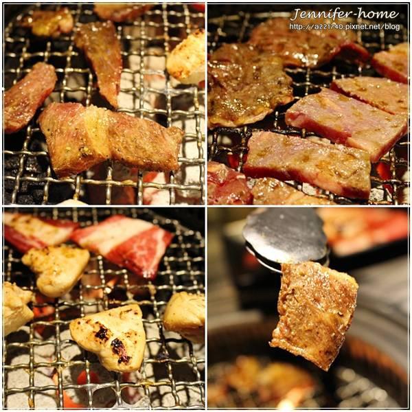 烤網上的肉