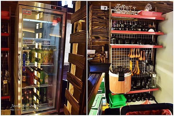 冰櫃及餐具架