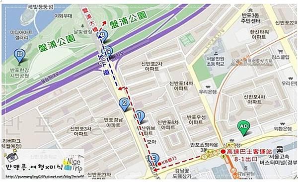 07盤浦大橋地圖
