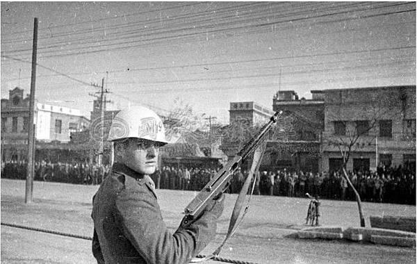 蔣北平檢閱美軍1.34年12月