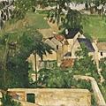 保羅.塞尚  奧維小鎮富爾區(風景畫,奧維)約1873年 油彩、畫布.jpg