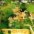 保羅.塞尚  奧維小鎮富爾區(風景畫,奧維)約1873年 油彩、畫布-.jpg