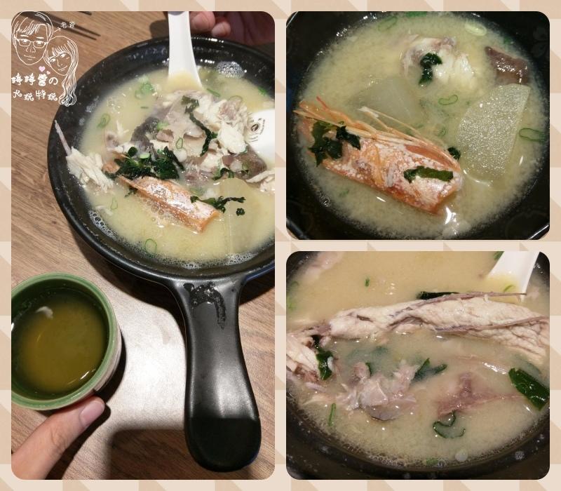 百魚鮮食屋海鮮味噌湯天使紅蝦頭
