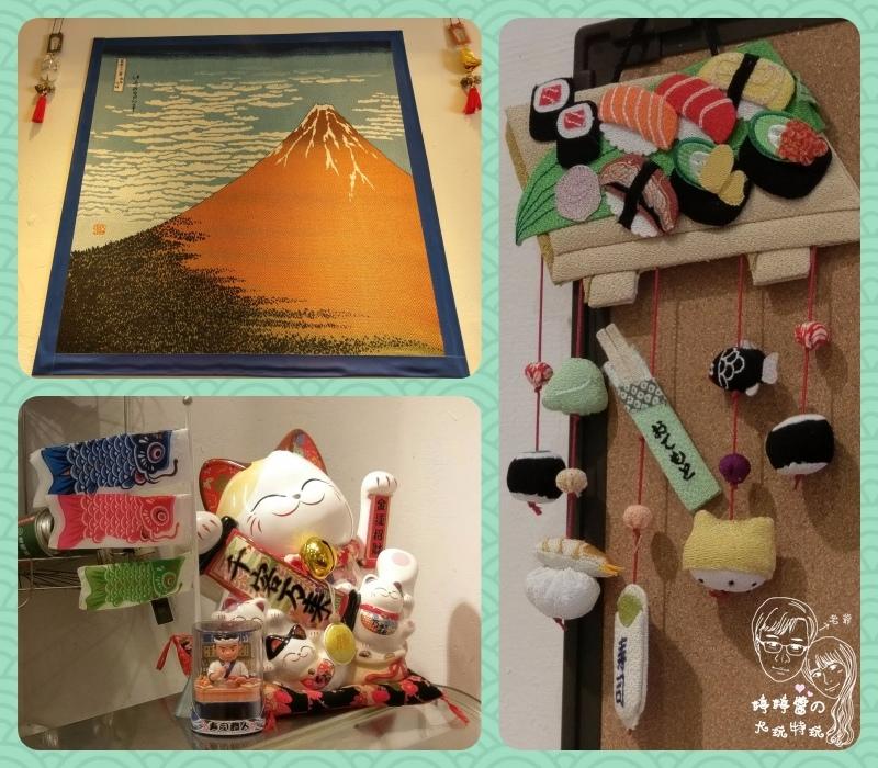 百魚鮮食屋店內佈置日本風