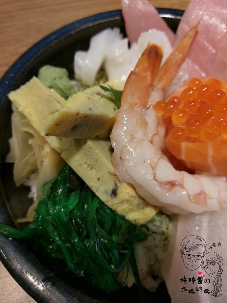 百魚鮮食屋A極の海鮮丼炙燒干貝.天使紅蝦鮭魚卵玉子燒