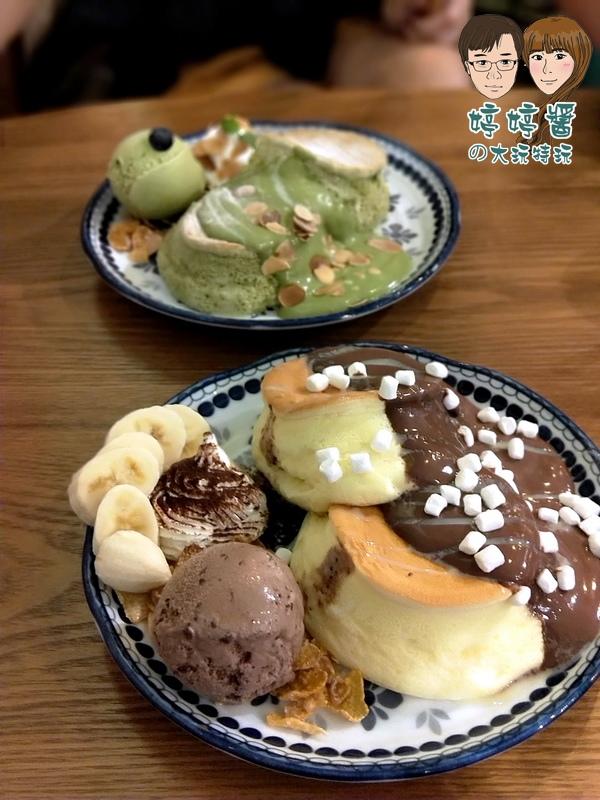 楽麥樂麥舒芙蕾製造所法芙娜巧克力舒芙蕾鬆餅 靜岡抹茶舒芙蕾鬆餅