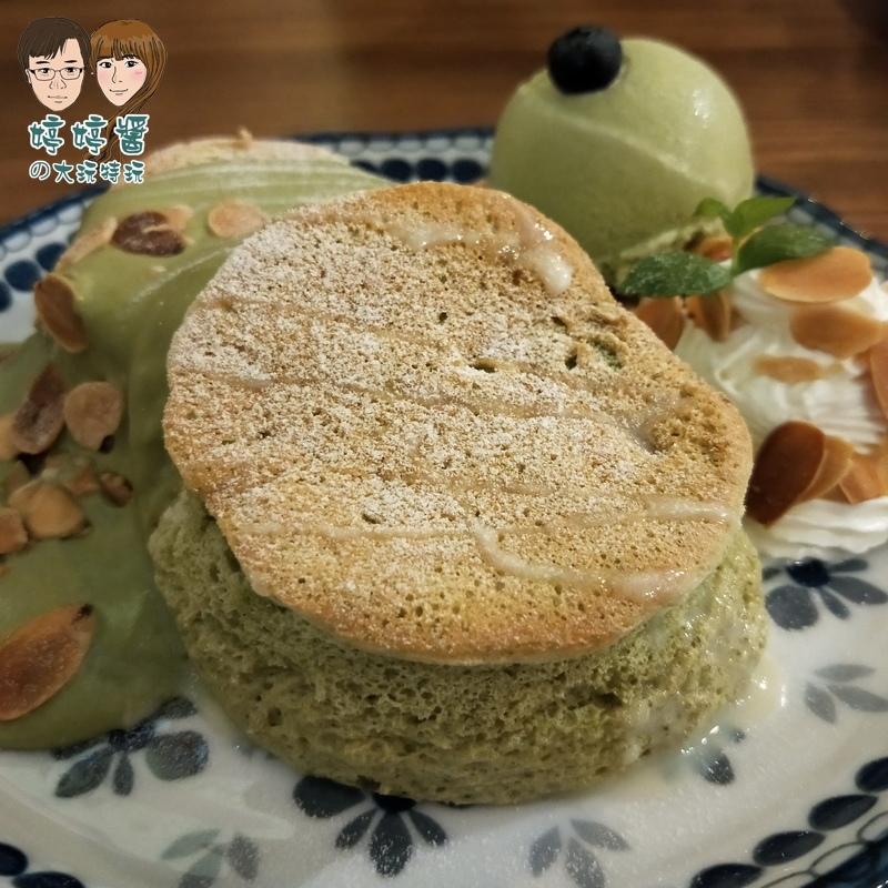 楽麥樂麥舒芙蕾製造所 靜岡抹茶舒芙蕾鬆餅近照表皮酥脆