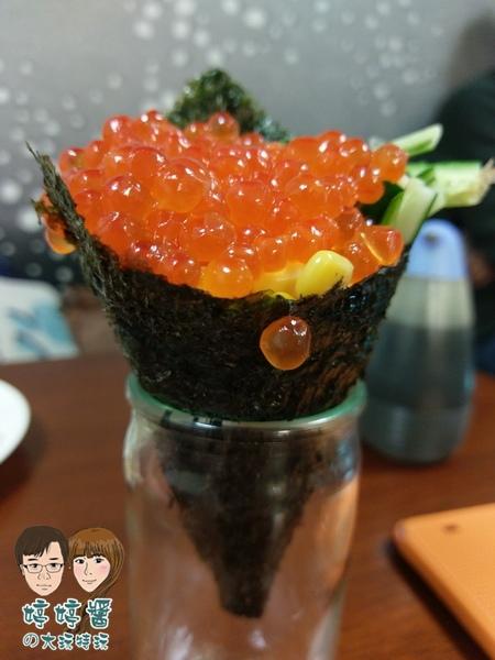三味食堂 鮭魚卵手卷