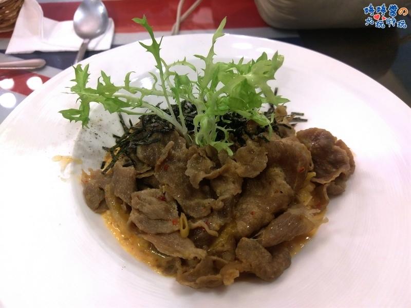 苗栗岩川莊園餐廳菜單menu排餐泡菜牛肉燉飯