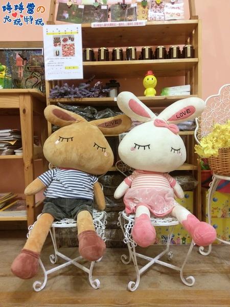 苗栗岩川莊園餐廳櫃檯佈景兔兔娃娃
